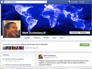 Profil de Mark Zuckerberg