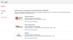 comparateur assurance auto google France